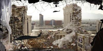 Das zerstörte Las Vegas ist eine Allegorie für die zerstörten Erwartungen mancher Zuschauer.